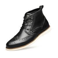 Männer Echtlederstiefel Brock hohe Spitzenschuhe Designer Martin Boots Lace-up Handel Herrenschuhe mit BOX EU46