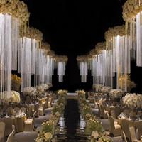 Nuova colonna del basamento di stile Stand Up metallo fiore cornice per fase di nozze hangging sala matrimoni di fiori di nozze sfondo scenografia senyu010