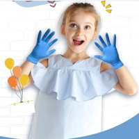 Monouso in nitrile Guanti bambini Blu 20pcs Pulizia senza polvere domestica verniciatura protettiva lavoro manuale nitrile Guanti FY4033