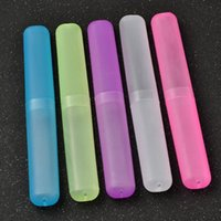 caja de cepillo de dientes cepillo de dientes portátil transpirable cepillo de dientes del tubo taza titular de caja de protección de almacenamiento en el hogar organizador de la caja portadora de viaje Mini