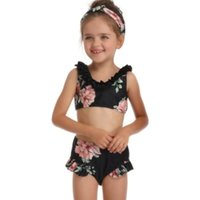 New Summer Child Watermelon Swimwear 2Pcs Kids Girls Halter ...