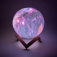 3D moon lamp Led night light colorful starry sky star moonli...