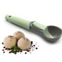 Eiscreme-Löffel Lebensmittel -grade Plastikfrucht Löffel Watermelon Werkzeuge Kugelform Eiscreme Melon Löffel
