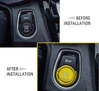 Araba EngineStyling Ateşleme Start Stop Halkası Vaka İçin Bmw F20 F21 F30 F31 F10 Düğme Dekorasyon Anahtarı Aksesuar Kapaklar