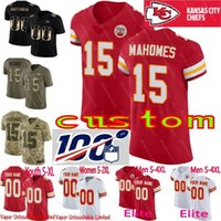 100. Jahrestag individuelle Oberhäupter Jugend Frauen Kansas City Patrick Mahomes Tyreek Hill Travis Kelce Eric Berry Camo Elite Limited Jersey