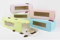 5 couleurs long carton pour boulangerie Boîte gâteau rouleau suisse boîtes rouleau gâteau biscuit Emballage W9273