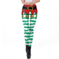 Nouveau Noël de Bell Mode Neuf Pantalons Leggings Pantalons Costume cosplay Performance Halloween femmes