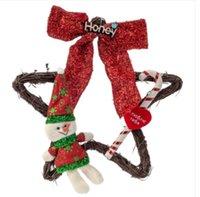 2020 CALIENTE 25cm ventas de Navidad Pentagram Estrella pre-encendido del árbol de Navidad de la guirnalda de la guirnalda ornamento colgante
