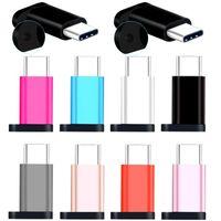 Tip C OTG Adaptörü Mikro Kadın Samsung Xiaomi LetV için USB-C Erkek Adaptörler