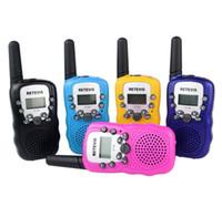 Un par Retevis RT-388 Mini Walkie Talkie Radio para niños 0.5W 8 / 22CH Pantalla LCD Amateur Radio de dos vías Talkly Transceptor para niños