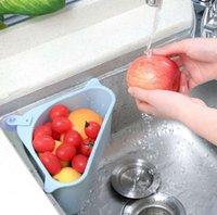 Kitchen Sink Triangular Sieb ablassen, Gemüse, Obst Rüstkorb Saugnapf Schwamm Rack-Speicher ToolSink Filter Regal SN978