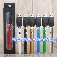 Vape kalemler Evod Ince Büküm Pil VV 510 Buharlaştırıcı Piller Seramik Bobin Cam CE3 Kartuşları için Küçük Vapes