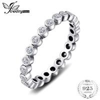 Jewelrypalace стерлингового серебра 925 кубического циркония CZ наращиваемых вечность кольцо модные ювелирные изделия для женщин лучший подарок горячий палец кольцо