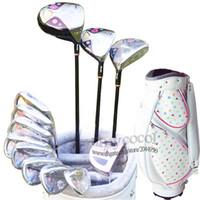 Neue Frauen Golfschläger Maruman FL Clubs Komplettsets Golf Antrieb Holz Eisen Putter Clubs L Graphite Golf Welle und Beutel Freies Verschiffen