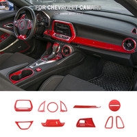 Steering Wheel   Central Control Interior Kit ABS Red Decora...