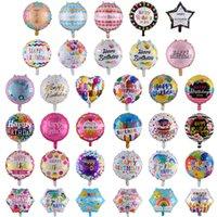 Оптовая 18-дюймовый день рождения воздушные шары 50 шт. / Лот Алюминиевая фольга Воздушные шары День рождения