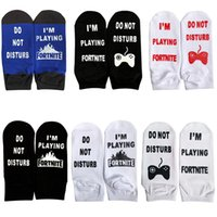 men cotton letter fortnight socks do not disturb socks fun g...