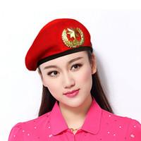 夏の男性女性の綿のグリッドベレー帽船員ダンスハット赤い黒のパフォーマンスキャップユニセックス通気性のあるカジュアルな陸軍キャップ