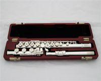 Güzellik Flüt Performans Professinoal 17 Delik Açılış E tuşu B Ayak Gümüş Altın Müzikal Fluate Anahtar Oyma Desen
