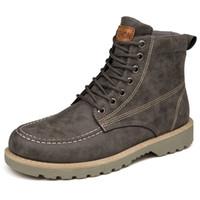 UNN Botas de Tornozelo de Couro Genuíno de Inverno para Homens Sapatos Casuais Do Vintage Masculino Em Botas de Neve Calçados Lace Up Quente Dentro Botas Homber