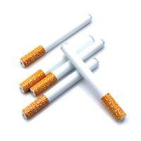 Toptan Sigara Bir Hitter Bat Metal Dugout Alüminyum Alaşım Sigara Borular 78mm 55mm Snuff burnundan soluyan Tütün Borular ücretsiz DHL