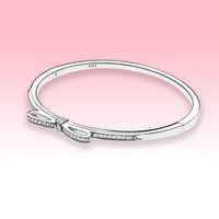 Frauen CZ Diamant Bow Armreif Armbänder Hohe Qualität Schmuck für Pandora 925 Sterling Silber Hochzeit Engagement Armband mit Original Box