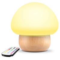 Livraison gratuite Smart Soft Silicone LED Champignon Baby Night Lights