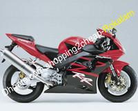 För Honda Shell CBR900RR 954 02 03 CBR Fireblade 900RR CBR954 RR CBR954RR Motorcyklar Fairing Kit Red Black 2002 2003 (formsprutning)
