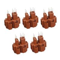 5 adet PCB kartı 6 pim soketi, voltaj regülatörü pimi, kaynaklı plaka fiş DJ7064-2.3-10