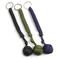 Ball Paracord Keychains Parachute Key Chain Ring Outdoor Sel...
