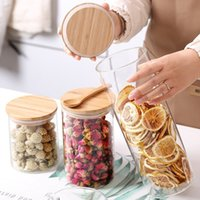 Storage Cereal Container Air Tight Canisters With Bamboo Lid...