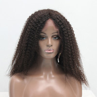 Brazilian Curly Human Hair Wig Afro Unprocessed Virgin Lace ...