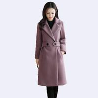 2019 sonbahar ve kış yeni Ince uzun kadın yün ceket artı pamuk kalın giyim kadın artı boyutu 4XL yün ceket bayan