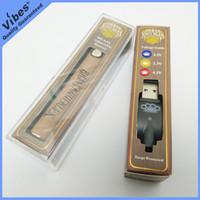 USB Şarj Cihazı ile Boş 510 Konu Brass Knuckles Petrol Kartuşları vibe'lar Kalite garantisi 900mAh Brass Knuckles Vape Pil Kalem