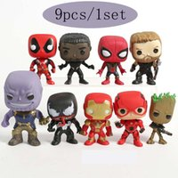 9CM Avengers 4 toy Marvel DC Deadpool Black Panther Spiderma...