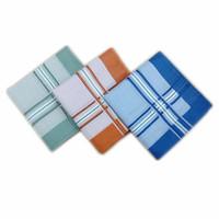 43 * 43cm Toalla de algodón a cuadros pañuelo cuadrado pequeño de la toalla de los hombres