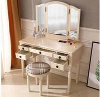 Мода Бесплатная доставка оптовые продажи горячие продажи комод три раза квадратное зеркало ящики римская колонна стол / табурет