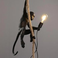 Северная смола обезьяна лампа светодиодный подвесной свет освещения гостиной ресторана спальня светильник кухонные приспособления суспензия 7 цвет