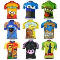 Летний мультфильм смешные велосипедные трикотажные изделия мужчины есть печенье велоспорт одежда дорожная велосипедная одежда MTB велосипедная одежда гоночный цикл джерси с коротким рукавом