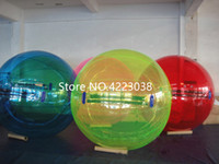 Spedizione gratuita 2 m Walk On Water Balls Sport acquatici Balloon Water-Walking Ball Acqua Zorb palla gonfiabile umana Hamster Balls
