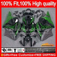 OEM iniezione per Honda fiamme verdi CBR600RR CBR 600RR 600F5 600cc 74HC.48 CBR 600 RR F5 09 10 11 12 CBR600 RR 2009 2010 2011 2012 carenatura