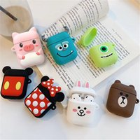 For Airpods Silicone Case 20 Patterns Shockproof 3D Animal S...