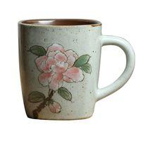 tasse de café Vintage Jingdezhen peint à la main pivoines tasse rétro personnalité créative tasse en céramique