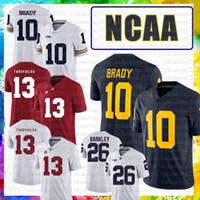 Alabama Crimson Tide American Football Jersey Xaf Tua THAYOVAILOA Michigan Wolverines 10 Tom Brady 26 SAQUON BARKLEY