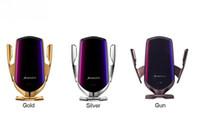 R2 10W 무선 자동차 충전기 적외선 자동 클램프 빠른 아이폰 화웨이 삼성 스마트 센서 2020 년 자동차 전화 홀더 마운트를 충전