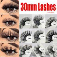 Longue Longueur 25-30mm 100% Réel Cils Faux Cils Crisscross Naturel Faux Cils Maquillage Cils 3D Vison Extension Cils Beauté