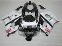 ZXMOTOR Kit de carenado de venta caliente para SUZUKI GSXR600 GSXR750 SRAD 1996-2000 blanco negro GSXR 600750 96 97 98 99 00 carenados GF33