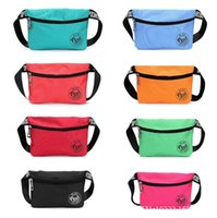 Pink fanny pack waist bag pouch for women Waterproof Nylon B...