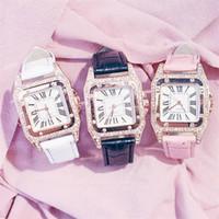 Vigilanza del cuoio unità di elaborazione modo delle donne di orologi al quarzo band per delle signore del vestito da polso numeri romani della vigilanza analogica del braccialetto