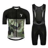 프로 팀 자전거가 공극 자전거 저지 세트 레이싱 자전거 착용 여름 남성 자전거 의류 Maillot Ciclismo Hombre 스포츠 유니폼 Y21031902
